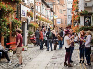 Kneipenviertel in Belfast