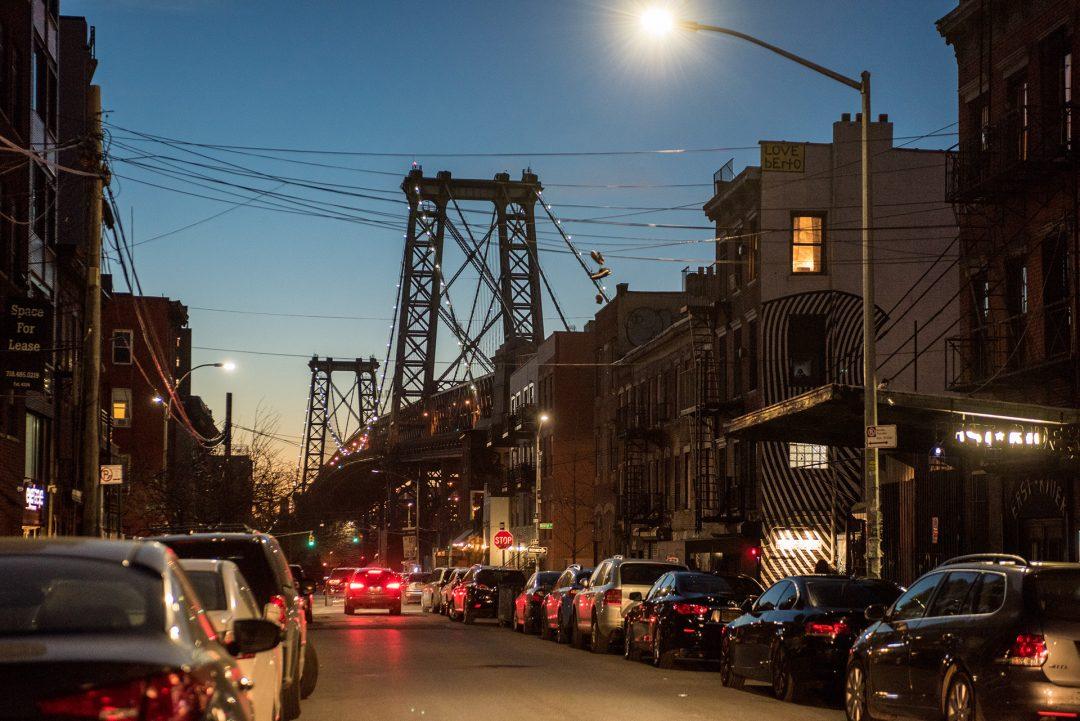Williamsburg Dusk, Williamsburg Bridge, Williamsburg, Brooklyn, New York City