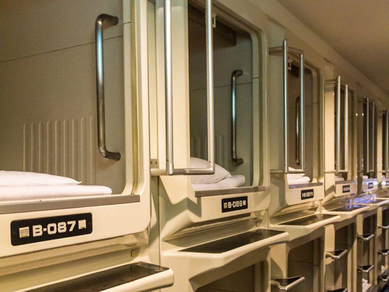 Eine Nacht in Tokyo im Nine Hours Kapselhotel