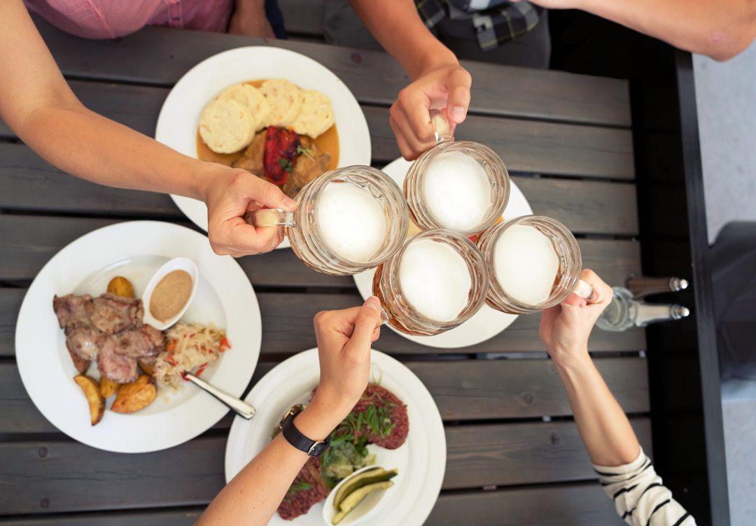 Bier Tschechisches Essen