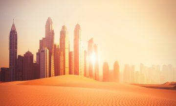 Dubai Skyline Wüste