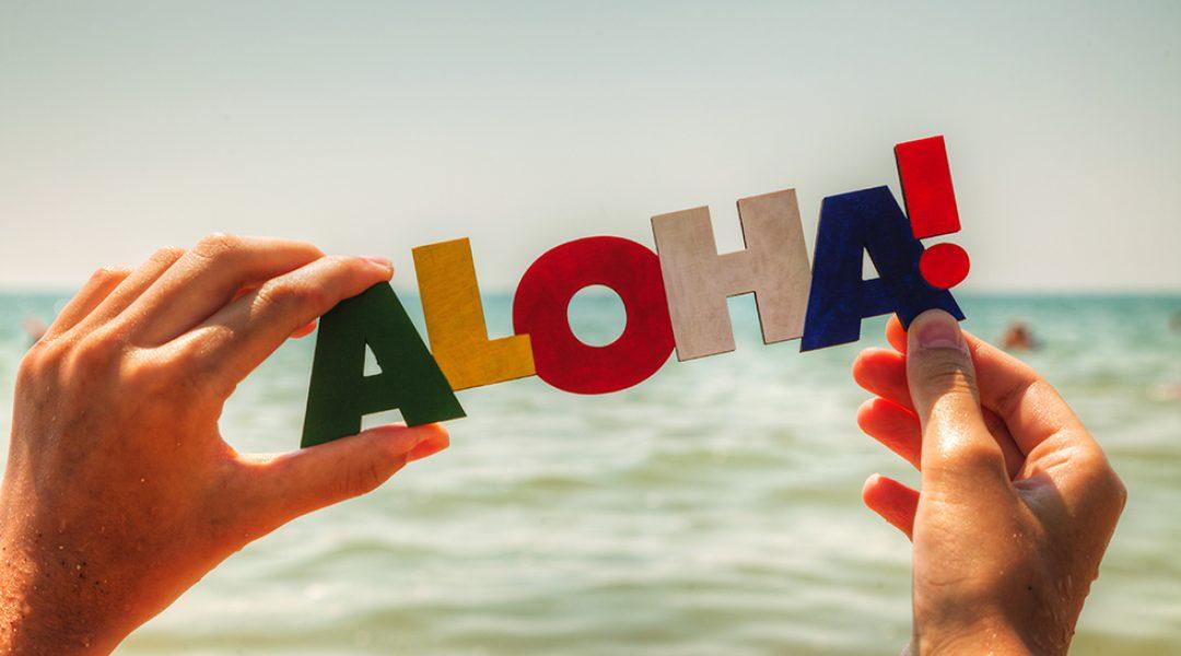Aloha Zeichen auf Hawaii