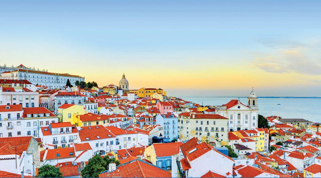 Panoramablick über Lissabon