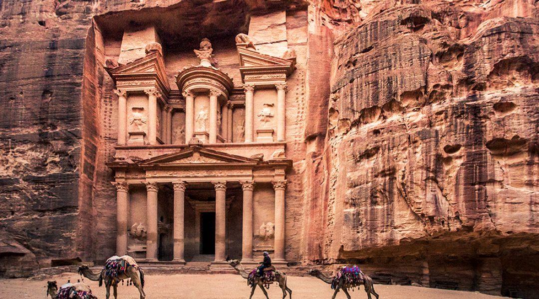Felsenstadt Petra in Jordanien