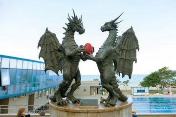 Bronzedenkmal im Meerespark