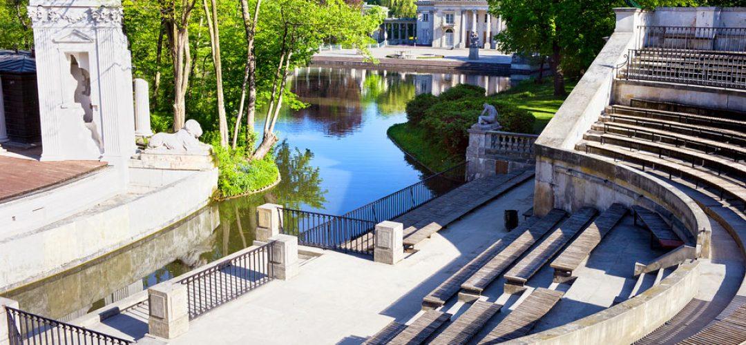 Blick in den Park von Warschau