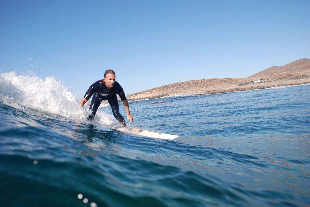 Christof Uhlmann surft