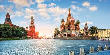 Roter Platz Moskau im Abendlicht
