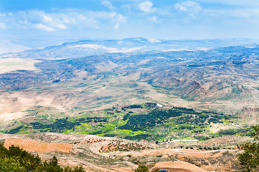 Das gelobte Land - Blick vom Berg Nebu