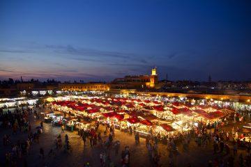 Beleuchteter Markplatz von Marrakesch