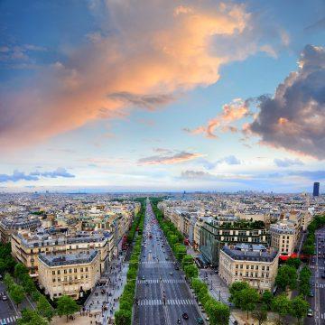 Ausblick auf die französische Hauptstadt Paris.