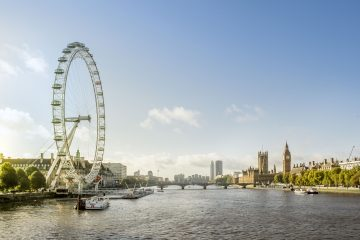 Skyline London Themse, Big Ben und London Eye