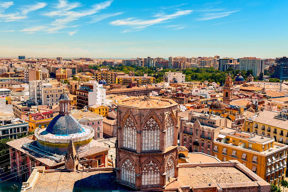 Altstadt von Valencia von oben